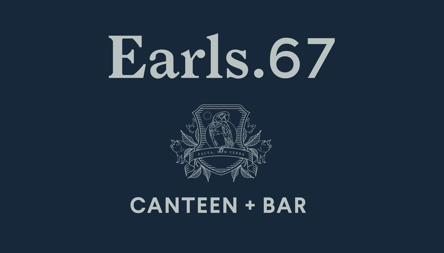 Logo and logotype by Glasfurd & Walker for US and Canadian restaurant chain prototype Earls.67