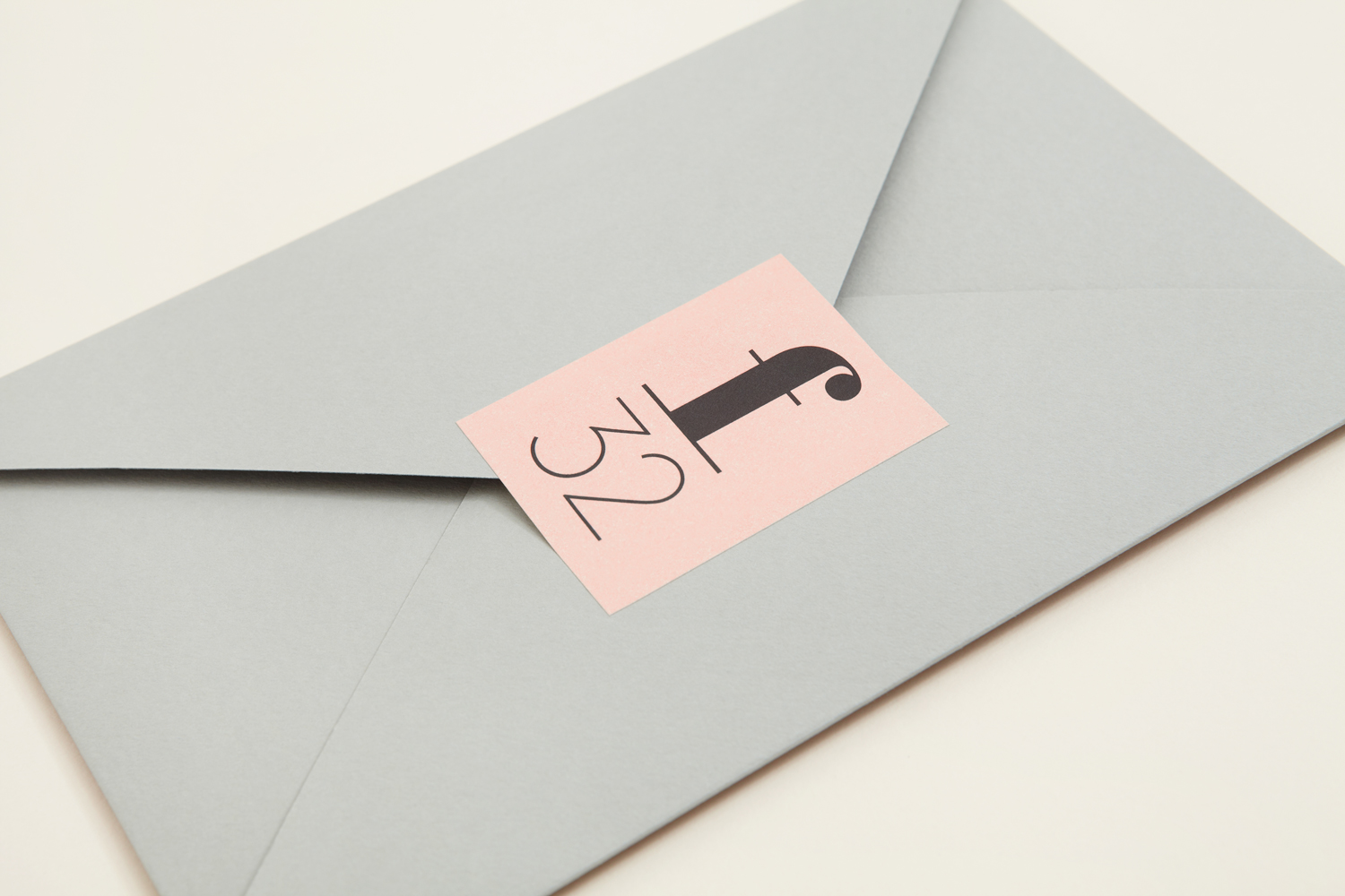 Brand identity and envelope by Blok for LA based trend-watching company f32