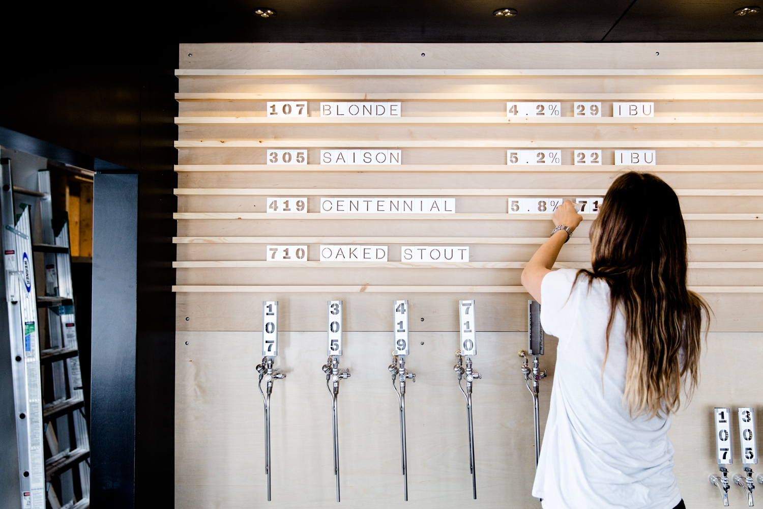 Type and signage by Canadian graphic design studio Post Projects for Faculty Brewing Co.