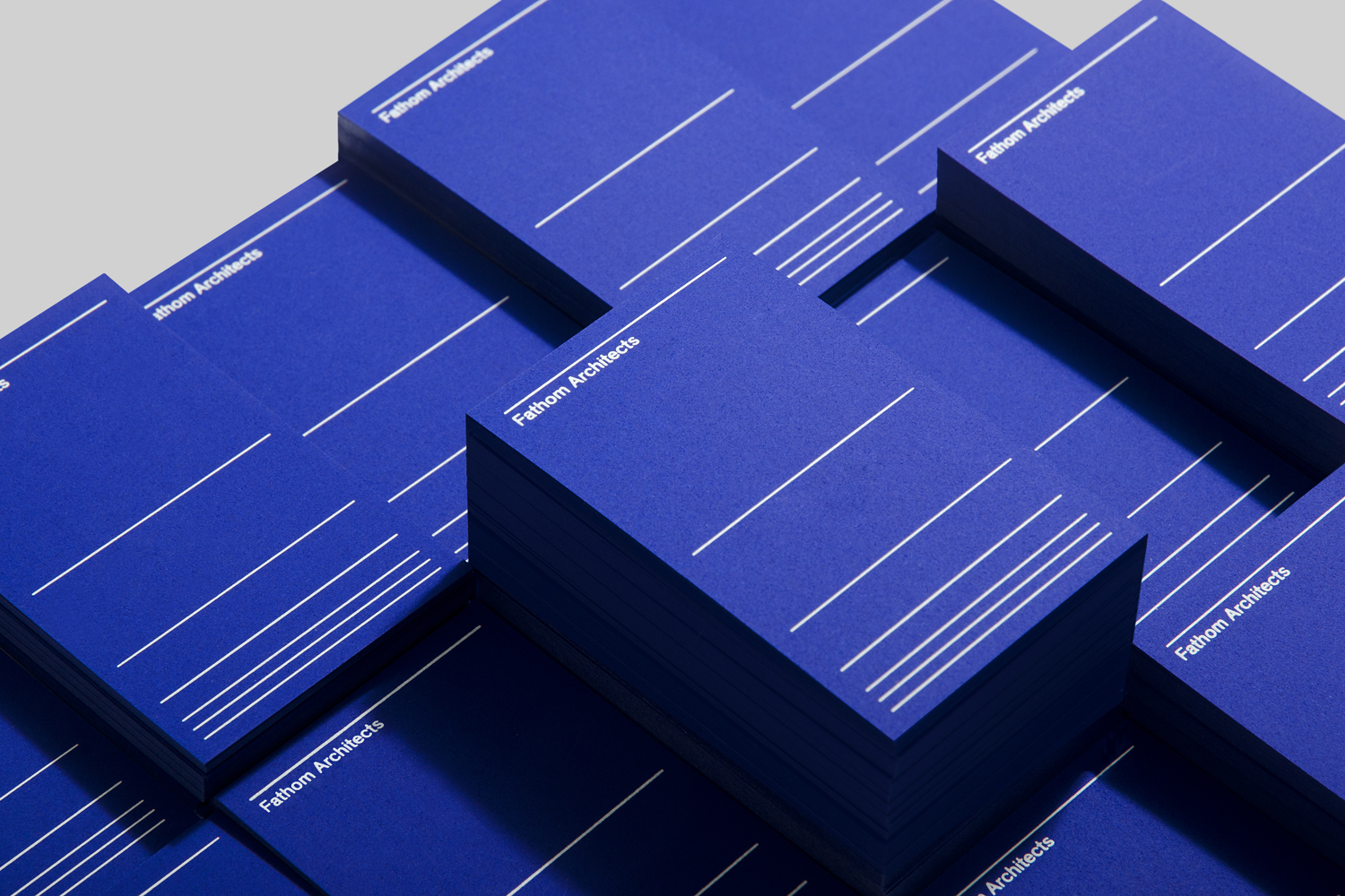 Branding for UK based Fathom Architects by dn&co.
