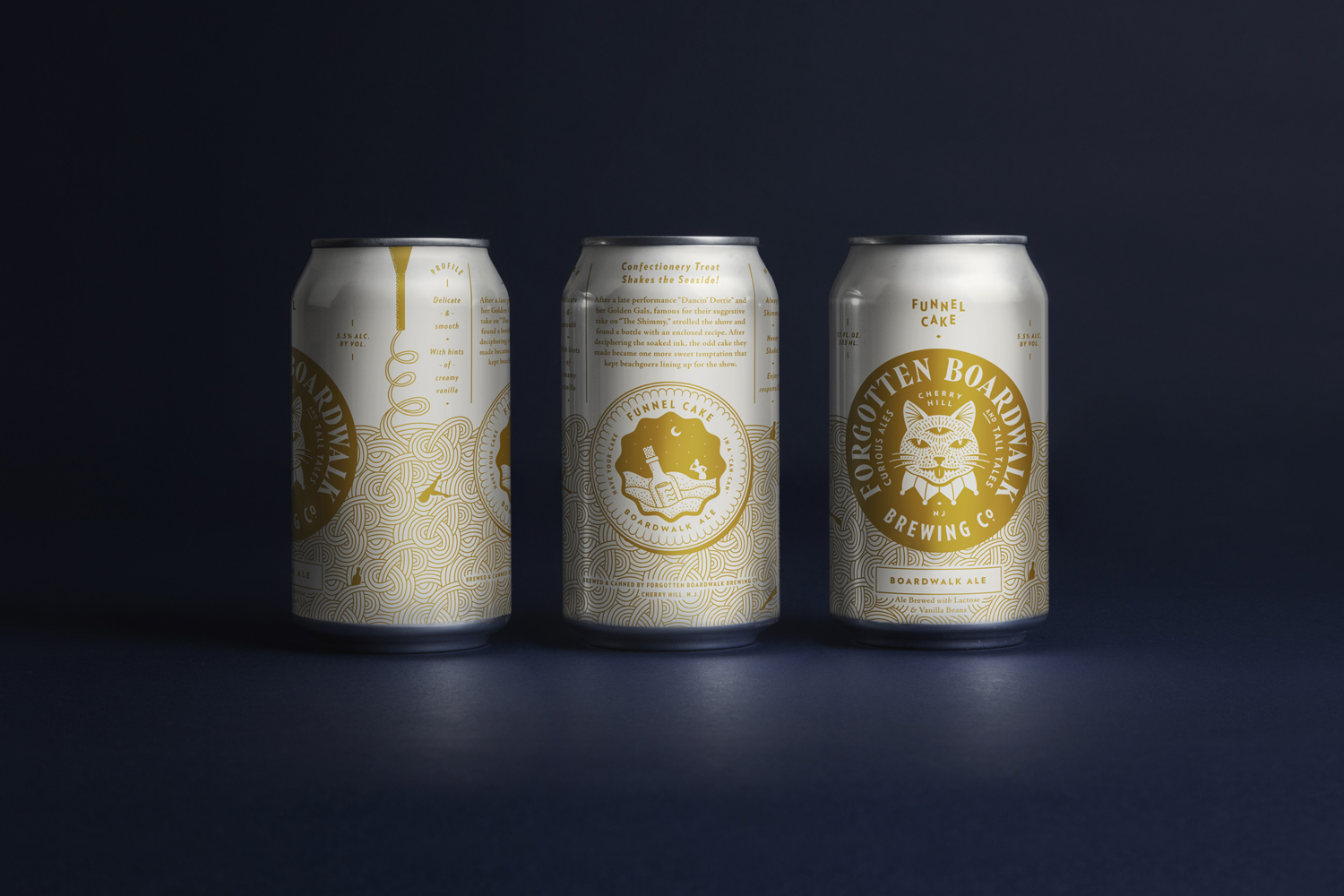 Brand identity and packaging for craft beer brewer Forgotten Boardwalk by Perky Bros