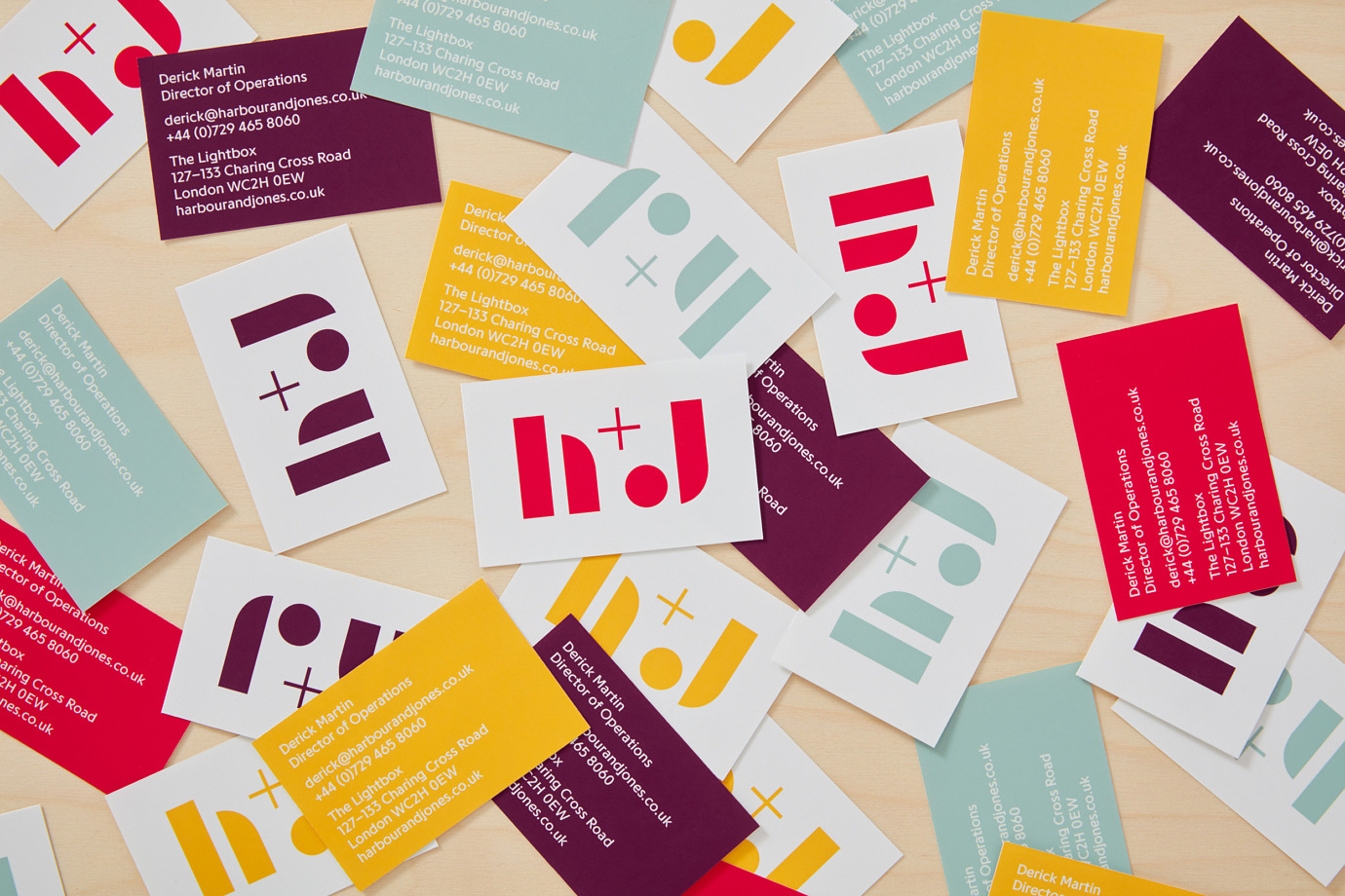 Logo, print, packaging, still life and website design by London-based studio Spy for catering business H+J