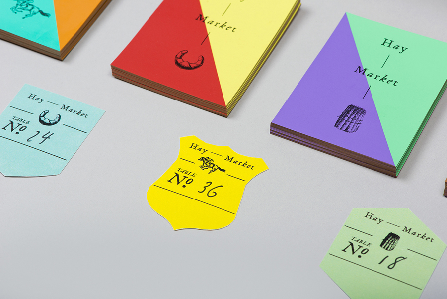 Print, stationery and identity for Hong Kong restaurant Hay Market designed by Foreign Policy