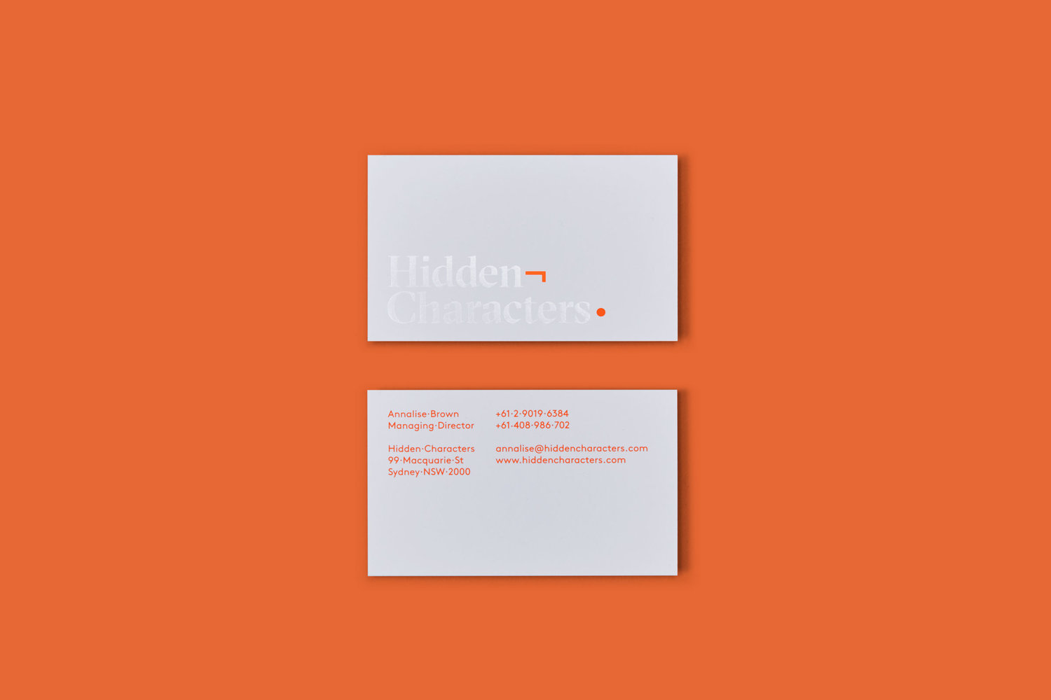 The Best Creative Business Cards 2017 – Hidden Characters by RE