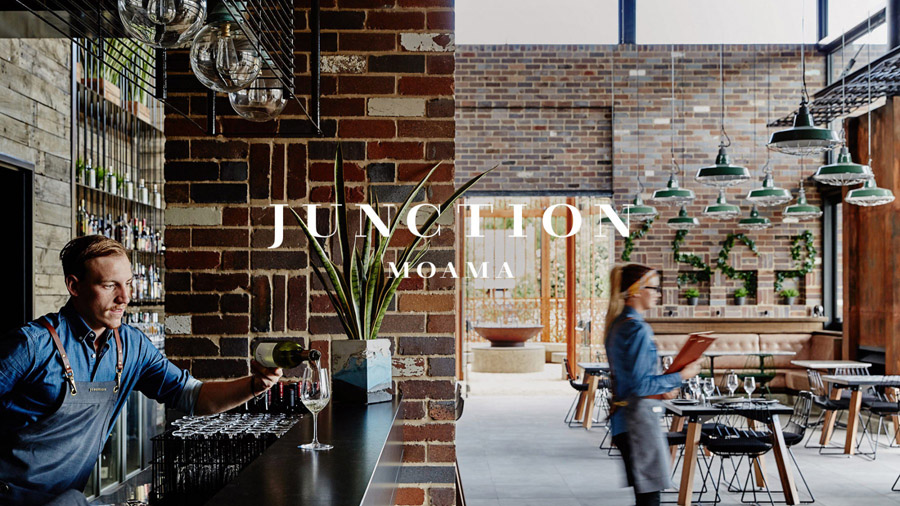 Logotype for bar and restaurant Junction Moama designed by Seesaw