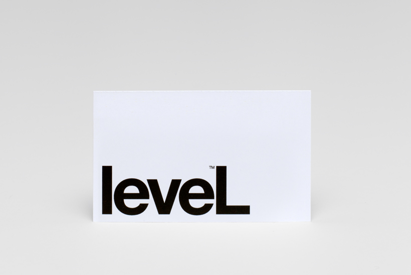 Logotype and business card designed by Studio Hi Ho for Level Improvements