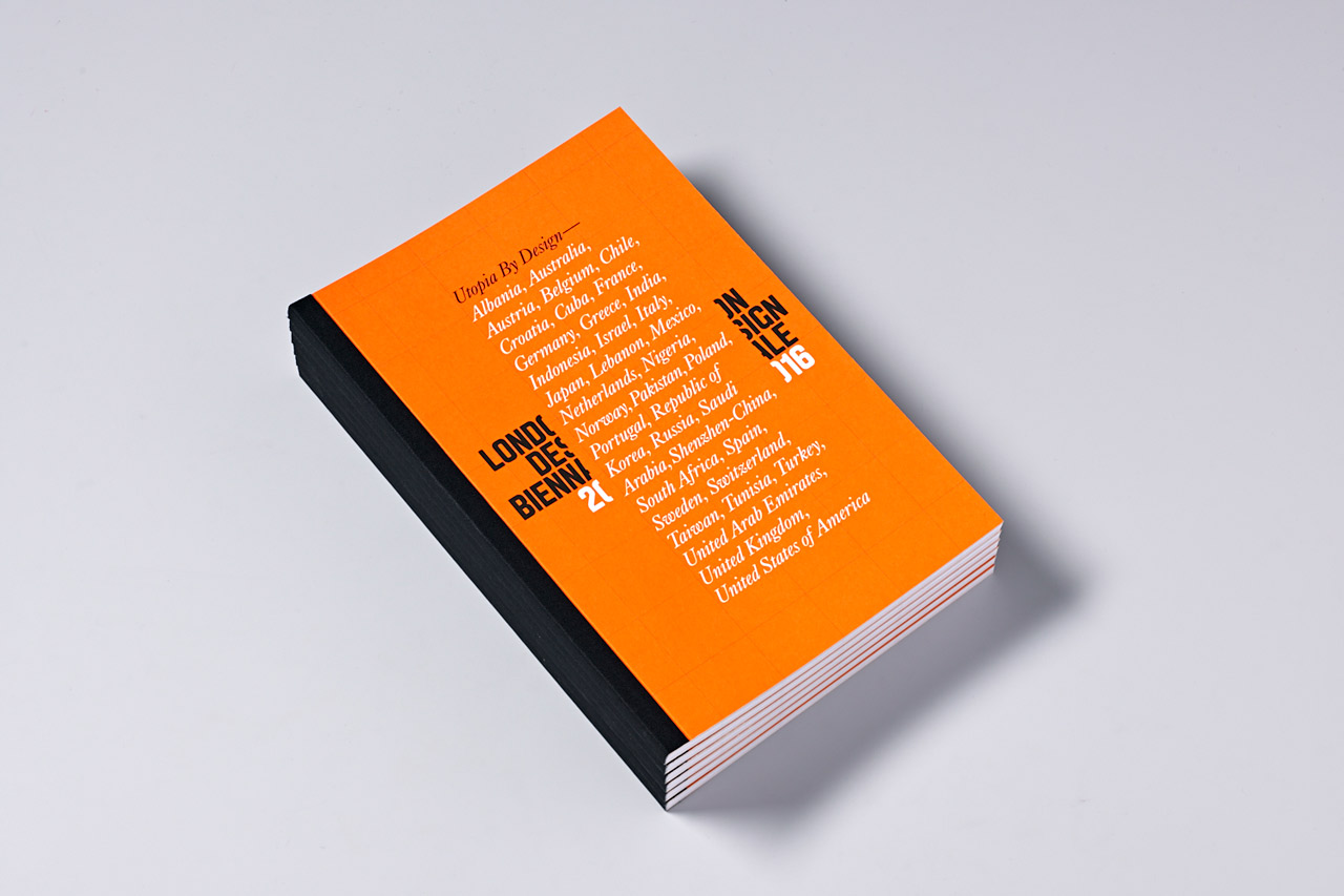 Programme by Pentagram partner Dominic Lippa for London Design Biennale