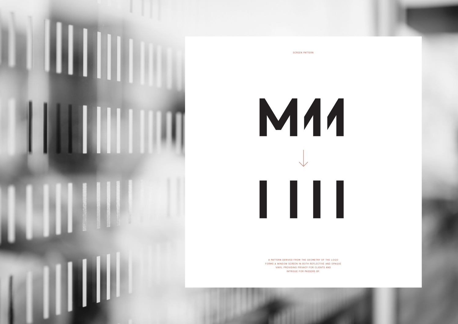 Logo and pattern for Auckland-based luxe salon M11 designed by Inhouse, New Zealand