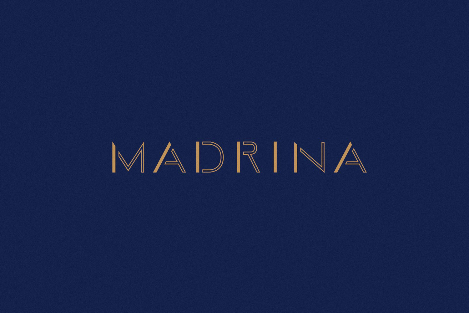 Logotype for French inspired Mexican restaurant Madrina designed by Mast