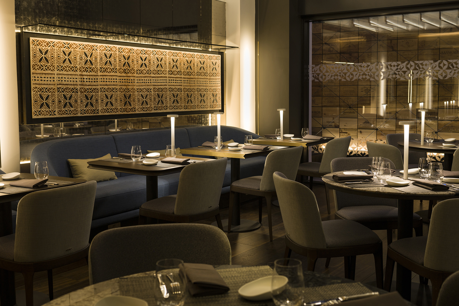 Interior of Mere, Monica and David Galetti's new London restaurant