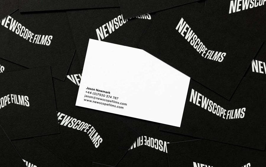 Black & White Branding – Newscope Films by Karoshi, United Kingdom