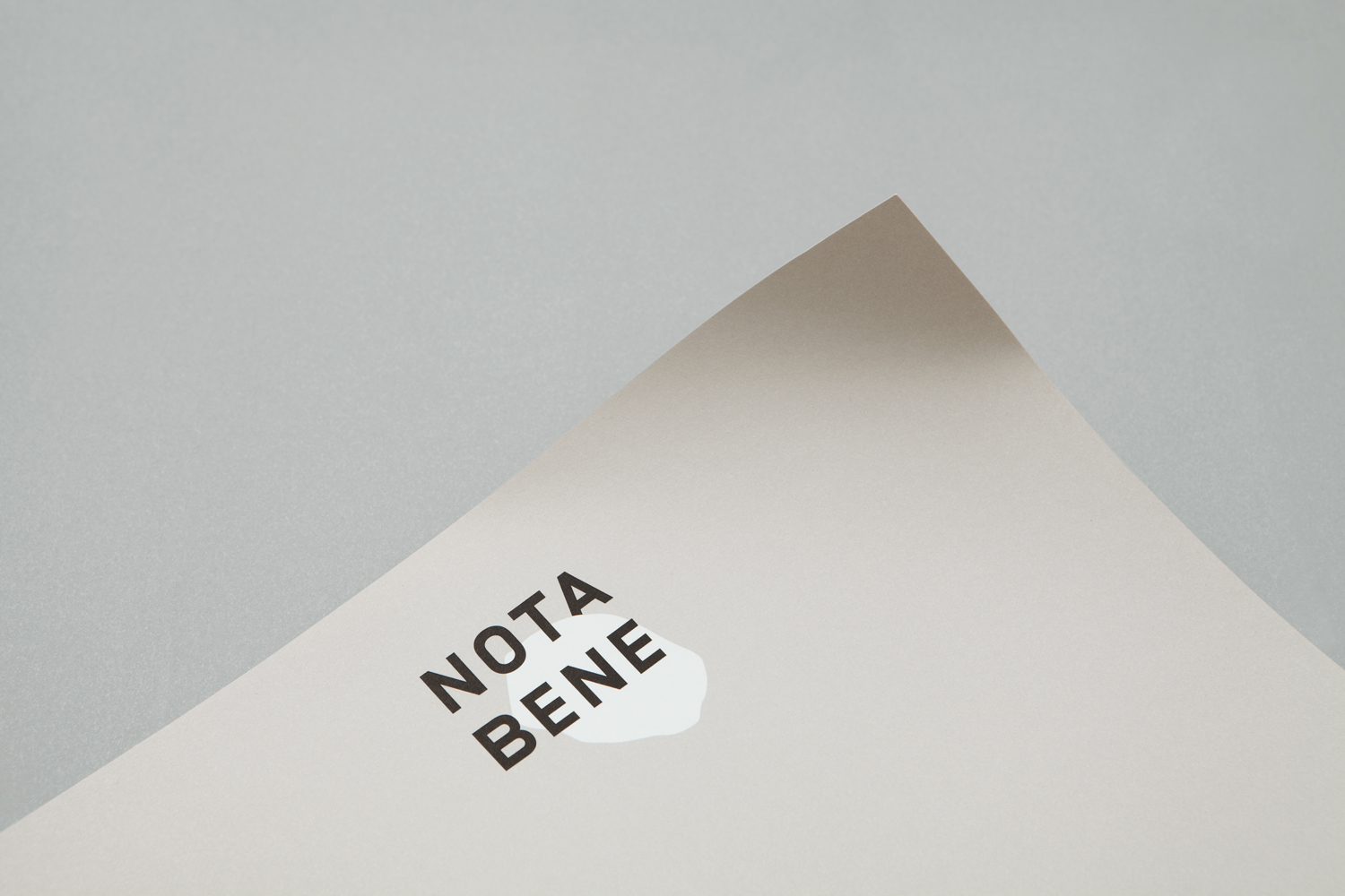 Brand identity and headed paper for Toronto restaurant Nota Bene by graphic design studio Blok, Canada