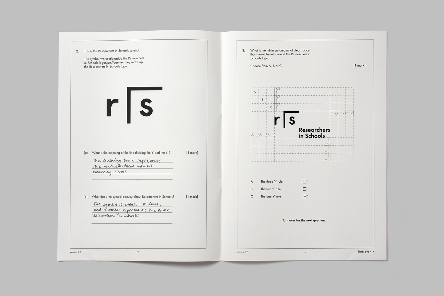 Brand book for Researchers In Schools by Paul Belford Ltd.