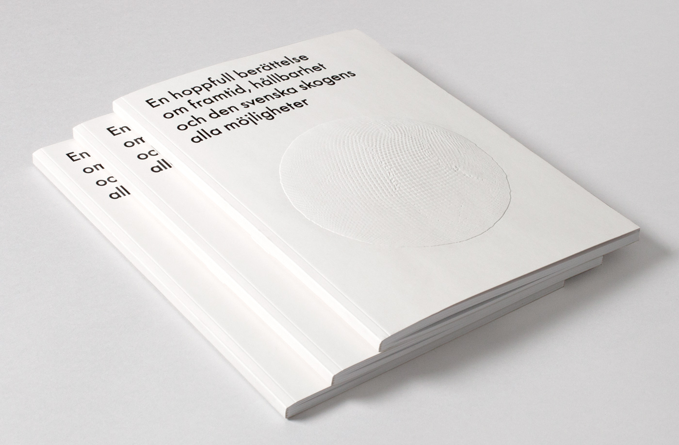 Brand identity and blind emboss brochure for Skogsindustrierna, the Swedish For­est Indus­tries Fed­er­a­tion, by BVD