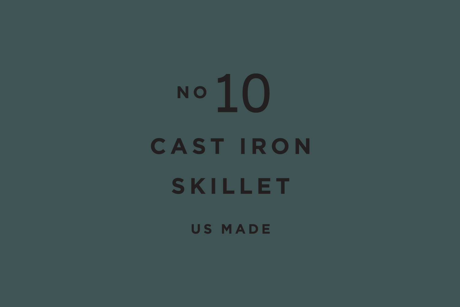 Typography for Smithey Ironware Company by Charleston based Stitch Design Co. United States