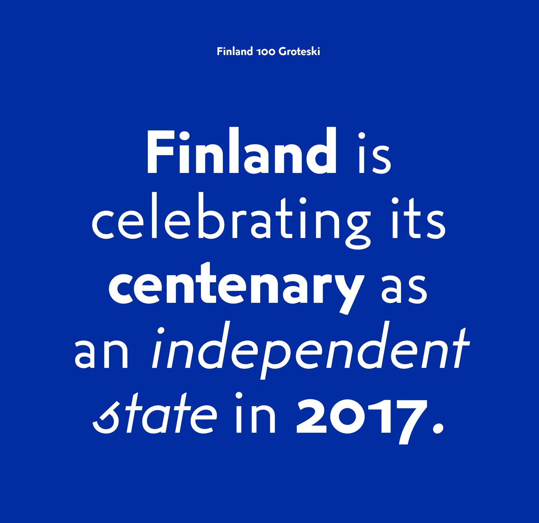 Custom typeface by Kokoro & Moi for the celebration of Finland's centenary