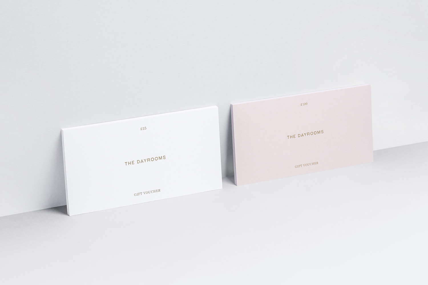 Gift voucher designed by Two Times Elliott for Australian fashion boutique in London The Dayrooms