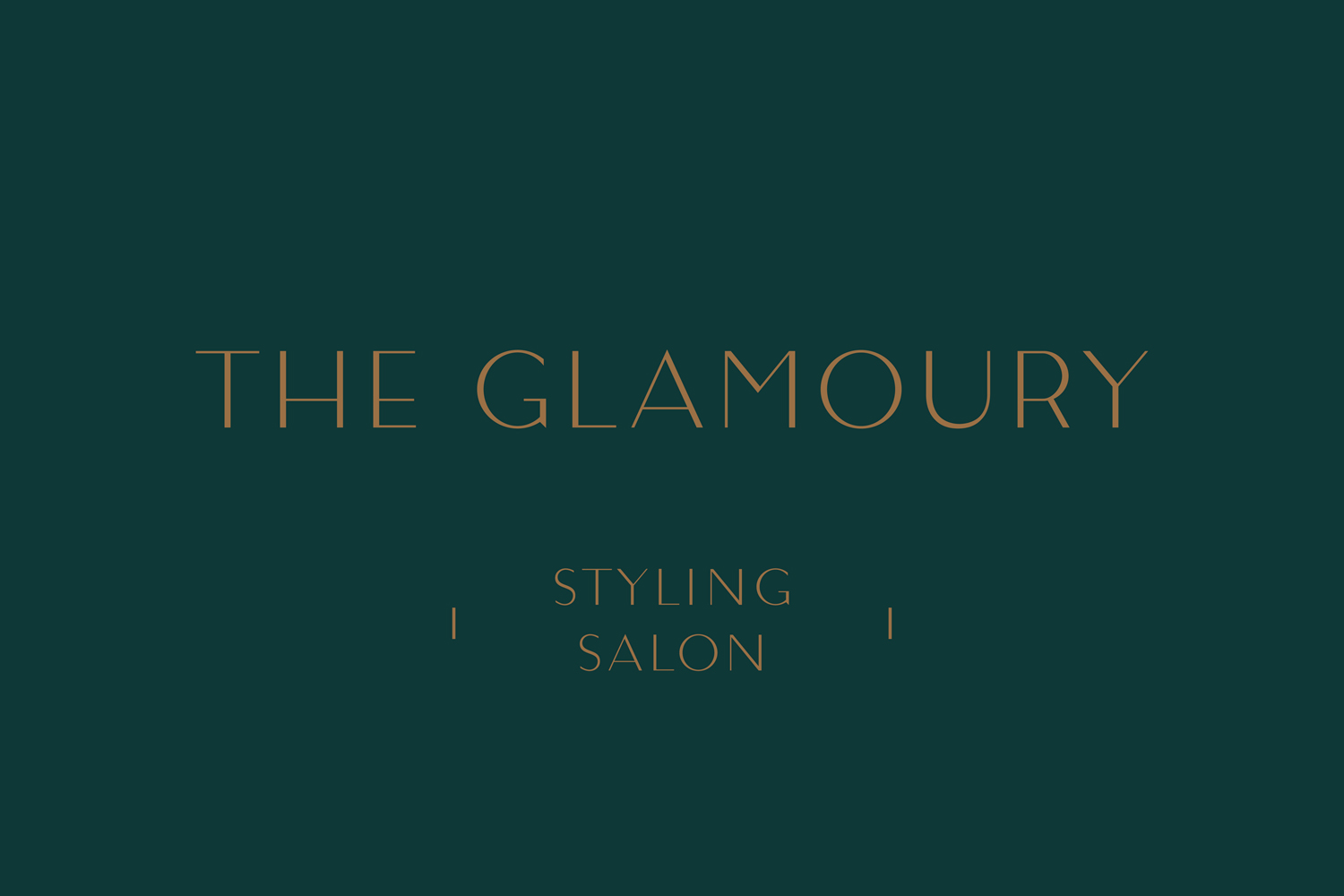 Logotype by Canadian studio Glasfurd & Walker for Vancouver-based luxury make-up and styling salon The Glamoury.