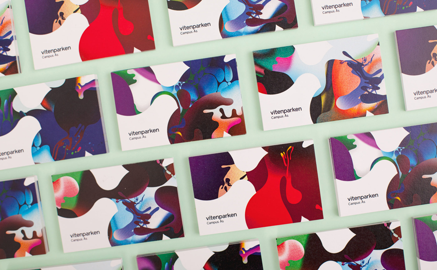 Business card design for science centre Vitenparken by Bielke+Yang