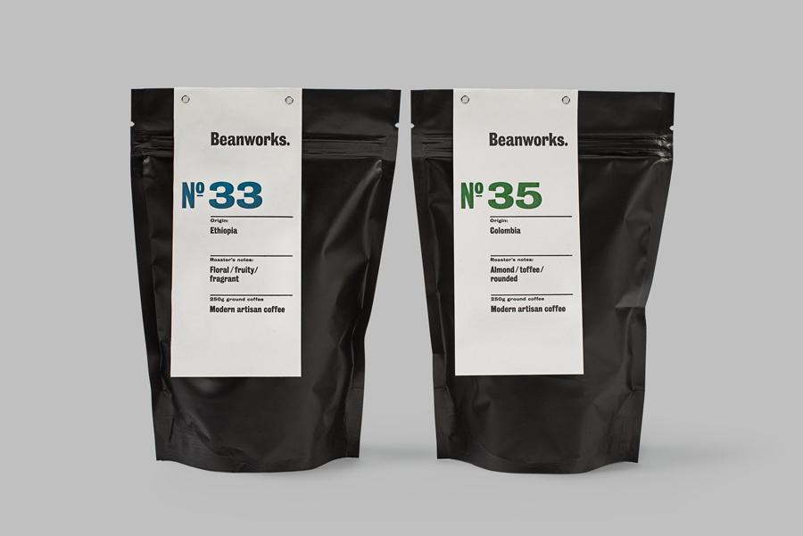 New Packaging For Beanworks By Paul Belford Ltd Bp Amp O