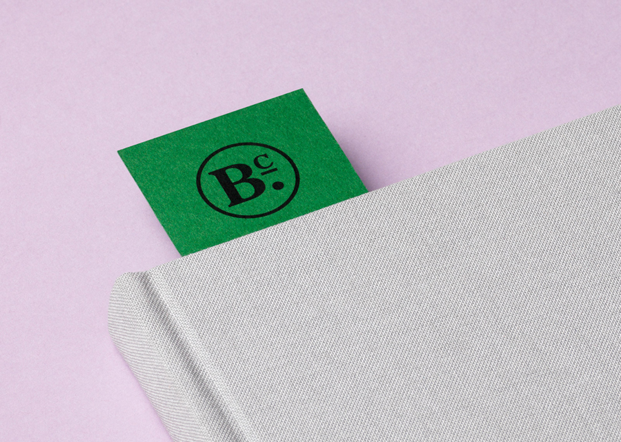 Brand identity and bookmark for publisher Bearleader Chronicle by The Studio, Sweden