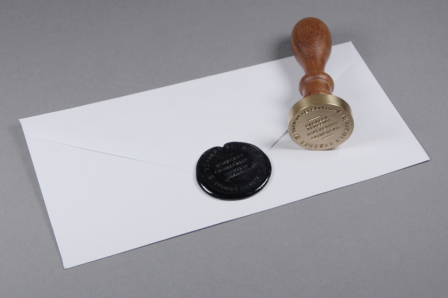 Visual identity and wax sealed envelope for Borders Railway Opening Celebration by Glasgow based graphic design studio KVGD