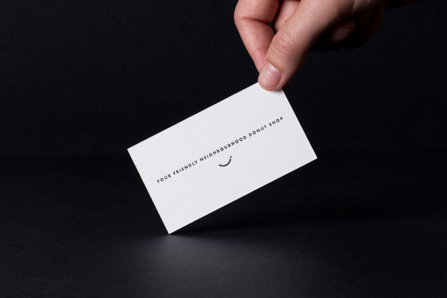 Business card for Bronuts by Canadian graphic design studio One Plus One