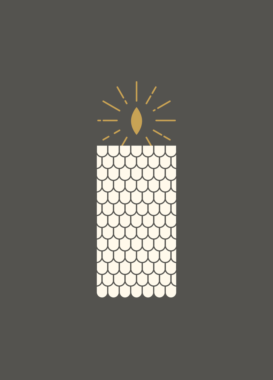 Illustration for Charleston handcrafted scented candle store and workshop Candlefish by Fuzzco