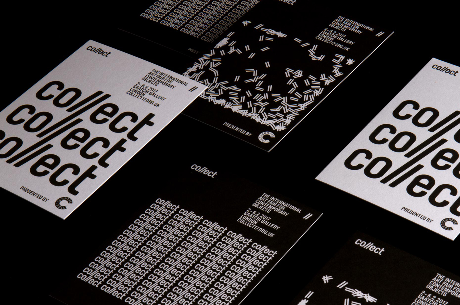 Brand identity and print for contemporary international art fair Collect, designed by Spin, London, UK