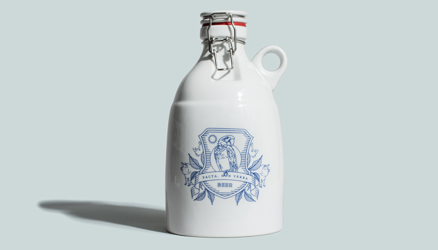 Branded growler designed by Glasfurd & Walker for US and Canadian restaurant chain prototype Earls.67