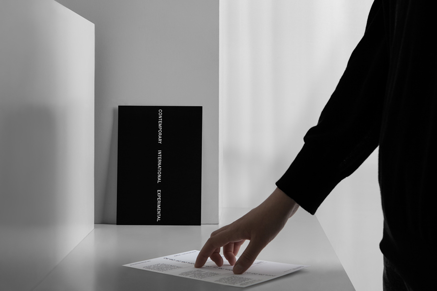 A5 postcard by graphic design studio Lundgren+Lindqvist for Edouard Malingue Gallery