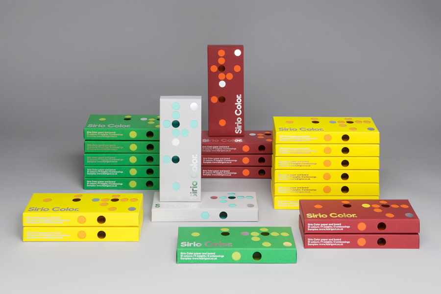 Packaging for paper manufacturer Fedrigoni's Sirio Color range designed by Design Project