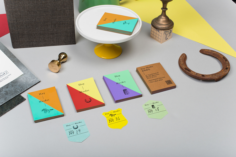 Print, stationery and identity for Hong Kong restaurant Hay-Market designed by Foreign Policy