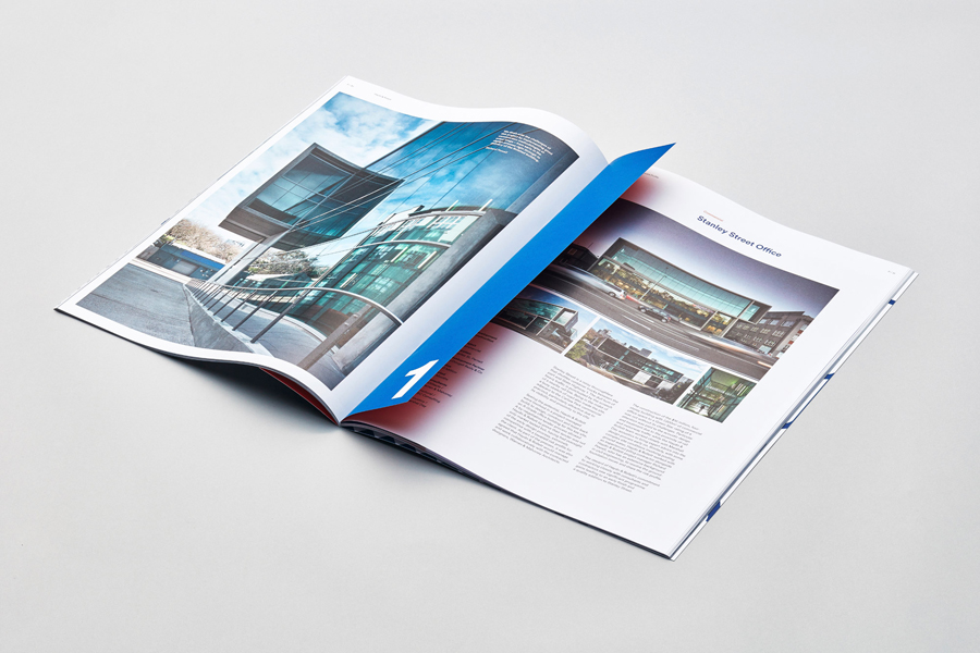 Brochure for Auckland construction company Haydn & Rollett by graphic design studio Richards Partners, New Zealand