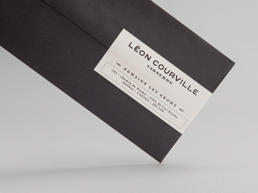 Logo and envelope for wine producer Léon Courville Vigneron by lg2 boutique
