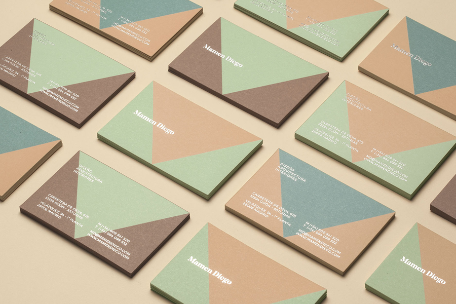 Branding for Spanish architect and interior design business Mamen Diego by Atipo