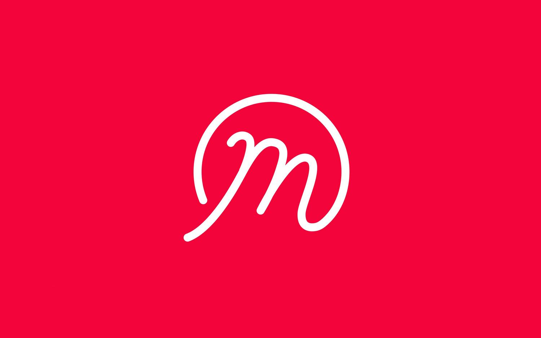 Logo for UK based custom merchandise business Mercht by Robot Food