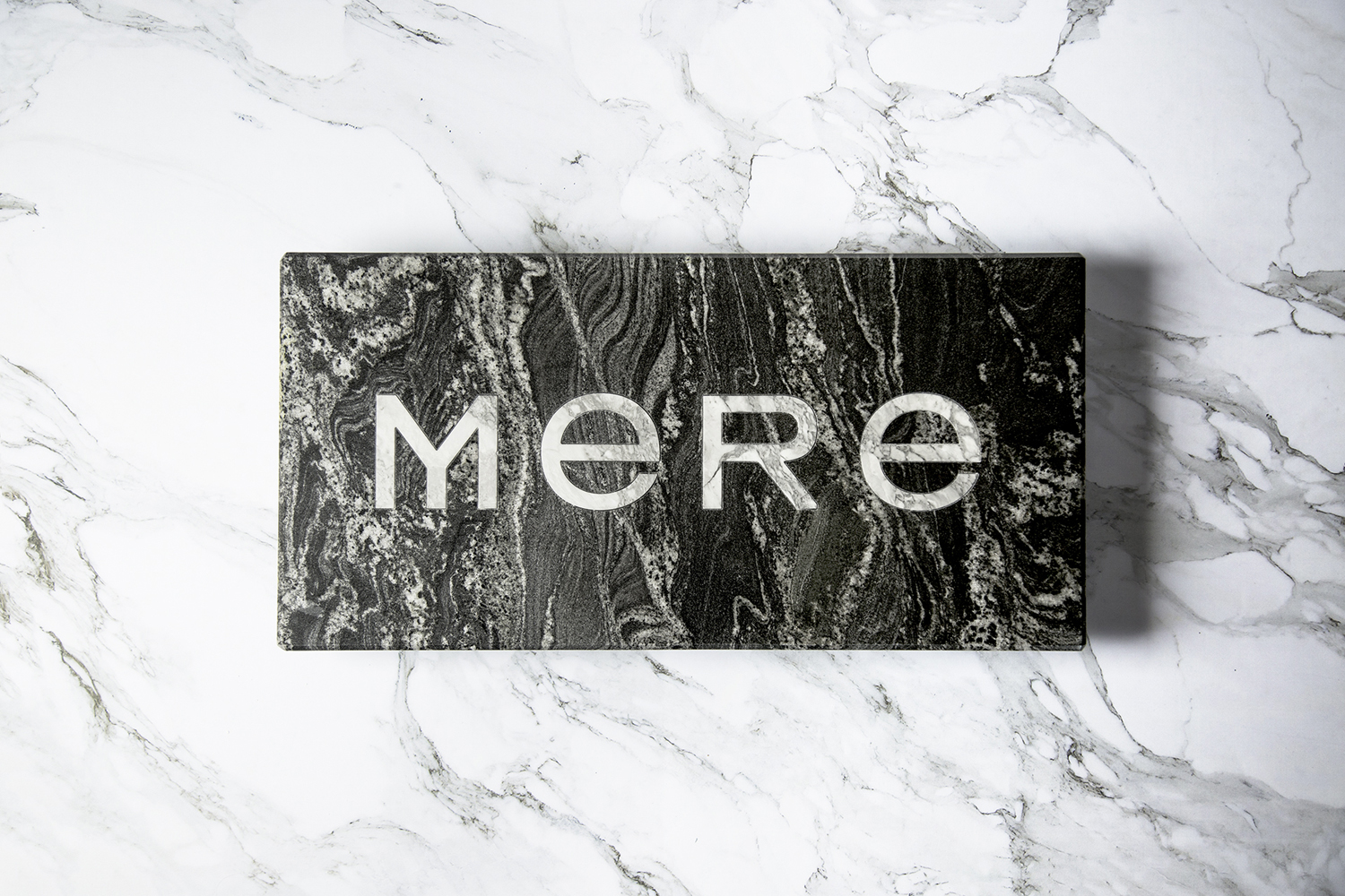 Logotype by Bibliothèque for Monica Galetti's new London restaurant Mere