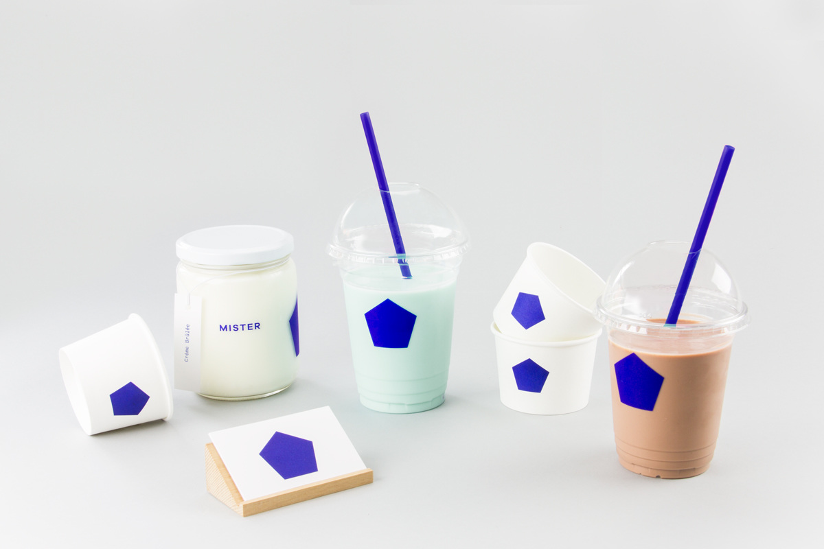 Brand identity and packaging by Brief for Vancouver-based all natural, artisanal and seasonal ice cream business Mister