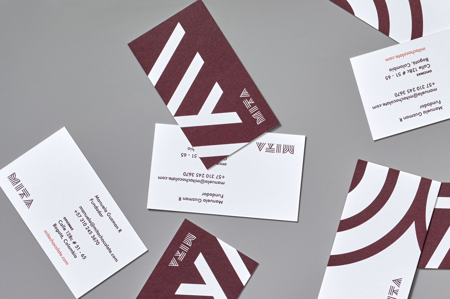Branding and business cards for Mita Chocolate Co. by Moniker, United States
