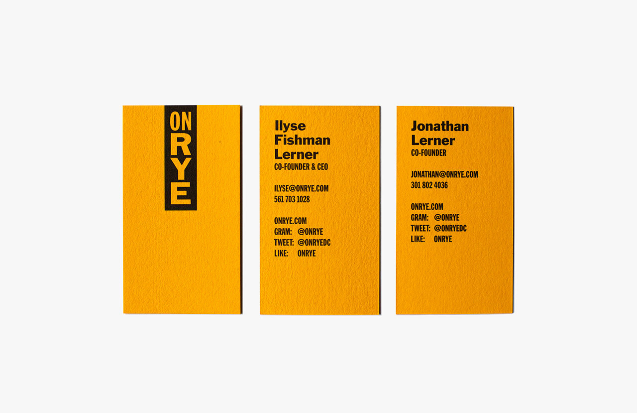 The Best Creative Business Cards 2017 – On Rye by Pentagram, United States