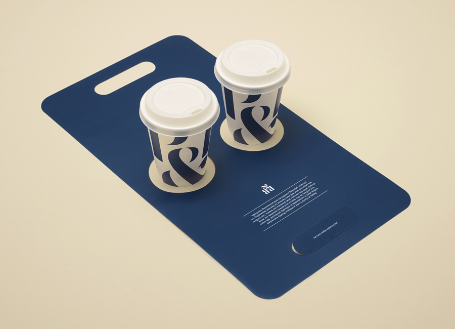 Coffee cup cradle and packaging design for Sydney based roaster Pablo & Rusty's designed by Manual