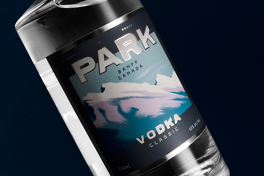 Package design for Park Vodka by Canadian graphic design studio Glasfurd & Walker via BP&O A Packaging Design Blog.