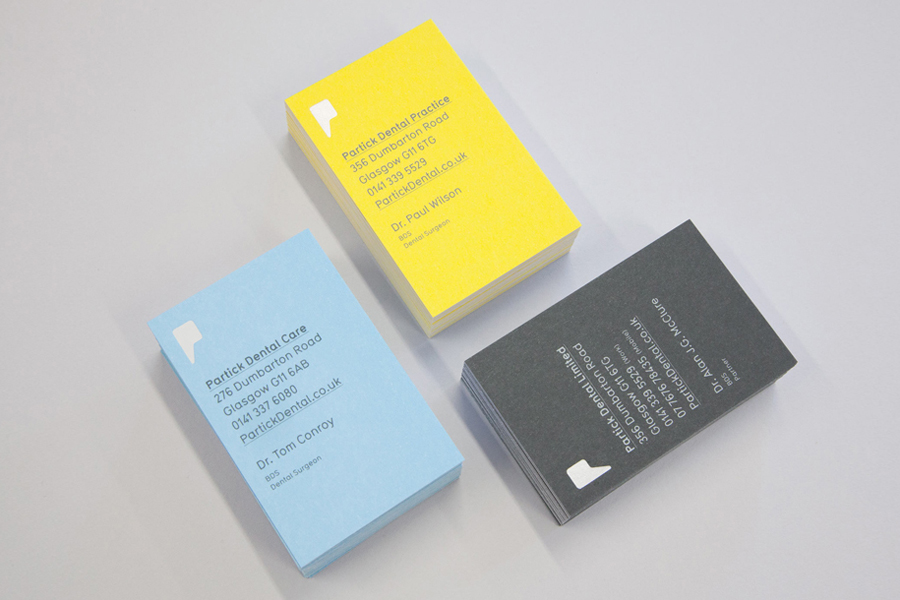 Business card design for dental practice Partick Dental by Freytag Anderson