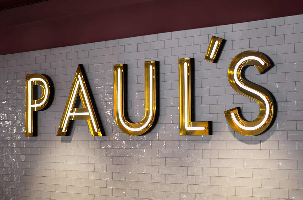 Neon Sign Design – Paul's at Haymarket by 25AH