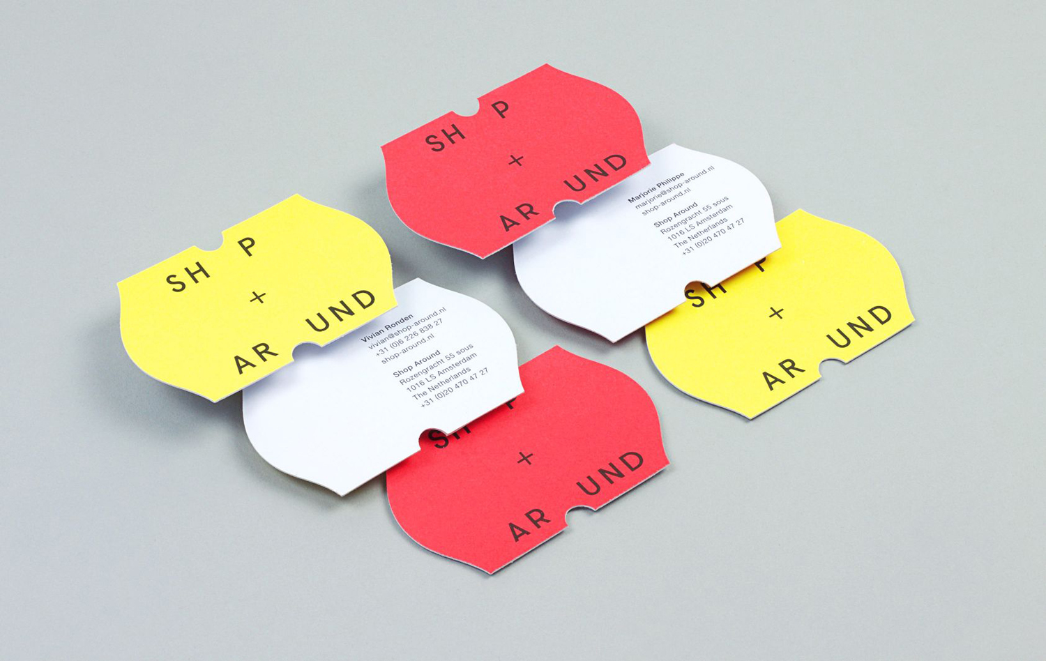 Brand identity and business cards by Toko for New York and Amsterdam-based creative production agency ShopAround