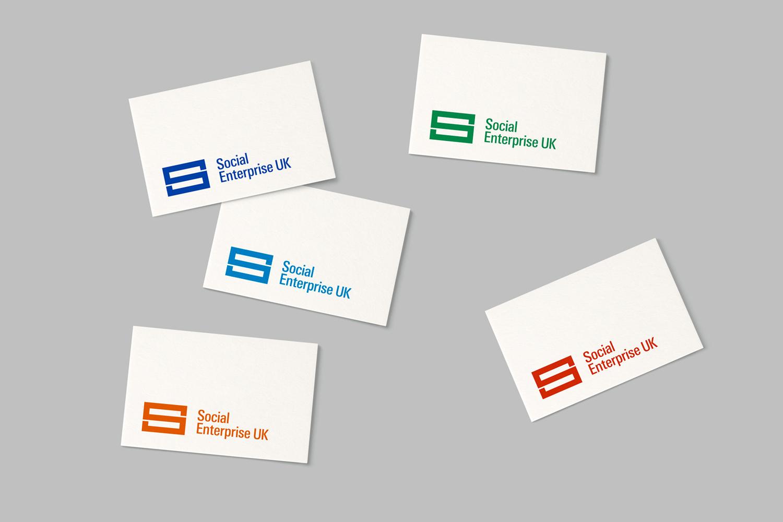 Logo for Social Enterprise UK by London based graphic design studio Paul Belford Ltd.