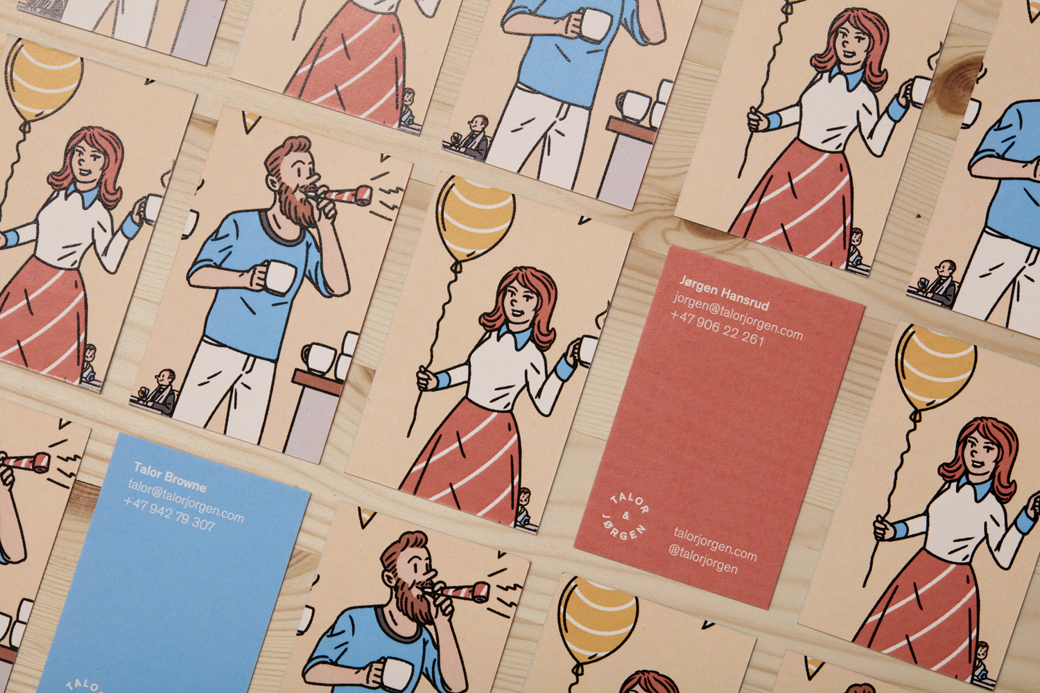 Packaging design by Olso-based Bielke & Yang for Norwegian coffee roastery and subscription service Talor & Jørgen