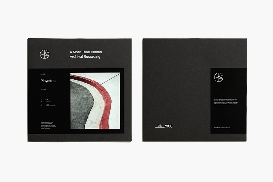 Record covers for More Than Human by Bedow designed in Stockholm, Sweden