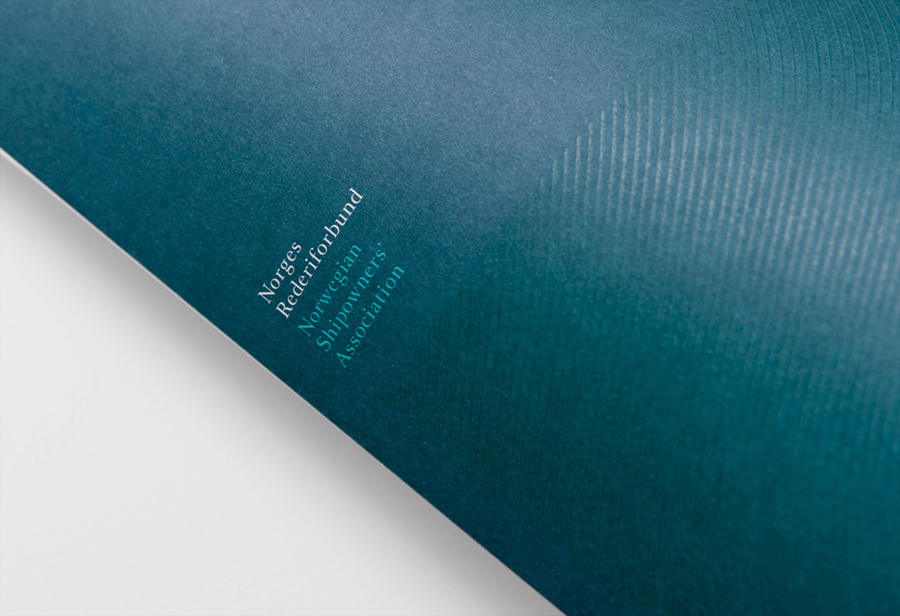 Visual identity and print for Norwegian Shipowners' Association by Neue designed in Oslo, Norway